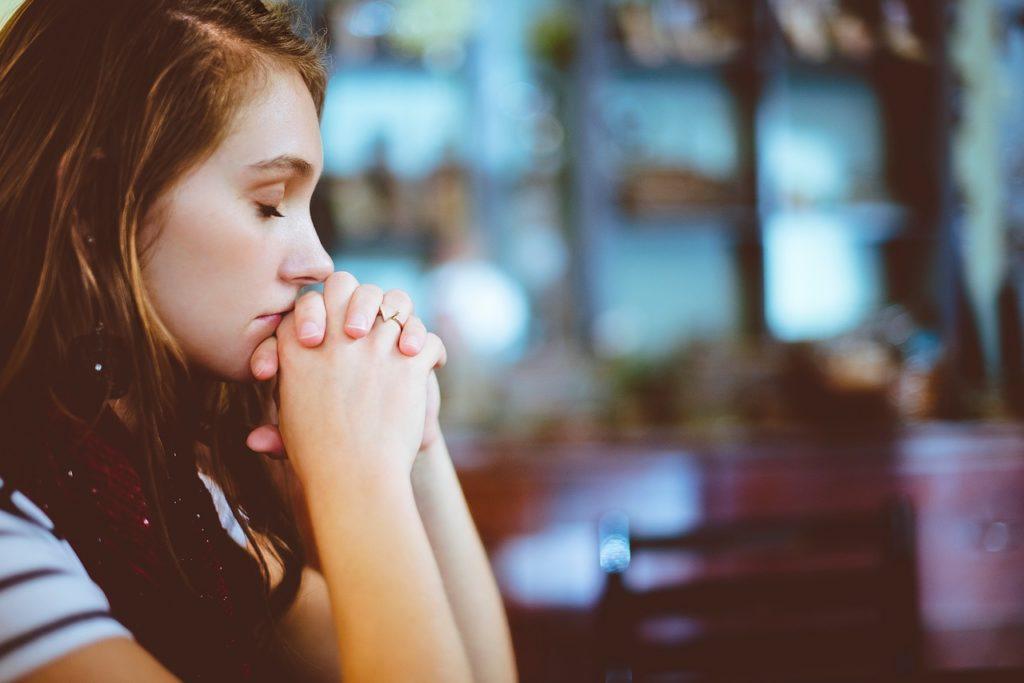 people, girl, praying